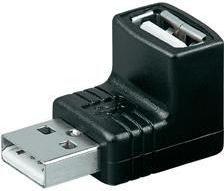 Adapter USB Manhattan USB A - USB A (wtyk-gniazdo) Czarny (689208)