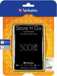 Dysk zewnętrzny Verbatim Store 'n' Go Portable, 500GB (VHD53B)