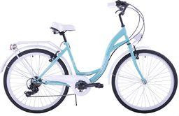 """Kozbike Rower miejski 26"""" Kozbike morsko-biały 7 biegów uniwersalny"""