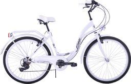 """Kozbike Rower miejski 26"""" Kozbike cały biały 7 biegów uniwersalny"""