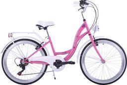 Kozbike Rower Kozbike Junior 24 różowo-biały 7 bieg uniwersalny