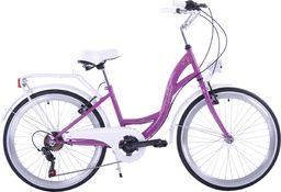 Kozbike Rower Kozbike Junior 24 fioletowo-biały 7 bieg uniwersalny