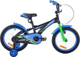 Fuzlu Rower dziecięcy 16 Fuzlu Racing czarno-niebieski uniwersalny