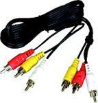 Kabel PremiumCord RCA (Cinch) x3 - RCA (Cinch) x3 2m czarny (kjackcmm3-2)