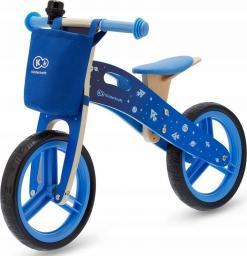 KinderKraft Rowerek biegowy Runner Galaxy niebieski z akcesoriami
