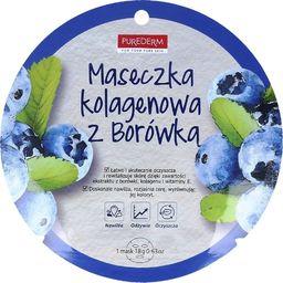 Purederm Maseczka do twarzy Blueberry Collagen oczyszczająca 18g