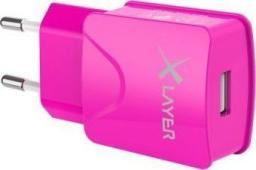 Ładowarka Xlayer USB Netzteil 2.1A Różowa