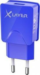 Ładowarka Xlayer USB Netzteil 2.1A Niebieska