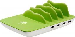 Ładowarka Xlayer Family Charger Maxi biały/zielony