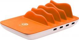 Ładowarka Xlayer Family Charger Maxi 4-Port USB Biały/Pomarańczowy