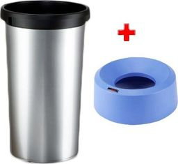 Kosz na śmieci Vileda do segregacji 50L srebrny (Zes000018)
