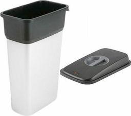 Kosz na śmieci Vileda do segregacji 70L stalowy (Zes000013)