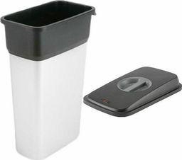 Kosz na śmieci Vileda do segregacji 55L srebrny (Zes000010)