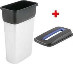 Kosz na śmieci Vileda do segregacji 55L srebrny (Zes000009)