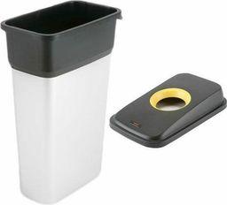 Kosz na śmieci Vileda do segregacji 55L srebrny (Zes000007)