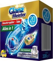 GlanzMeister Tabletki do zmywarki GlanzMeister Alles in 1 20 sztuk uniwersalny