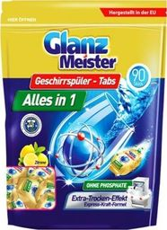 GlanzMeister Tabletki do zmywarki GlanzMeister Alles in 1, 90 sztuk uniwersalny