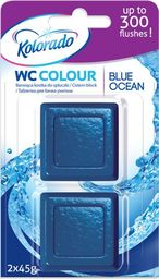 Kolorado Kostka barwiąca do spłuczki kolorado Niebieski Ocean 2x45g uniwersalny