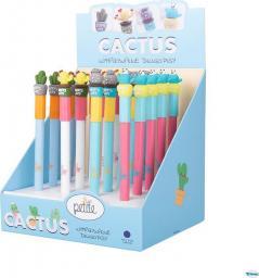 Petite Wymazywalny długopis ze skuwką Cactus (48szt)