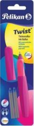 Pelikan Pióro kulkowe Twist neon śliwkowe + 2 naboje
