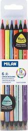Milan Kredki Bicolor fluo/metalizowane 12 kolorów MILAN