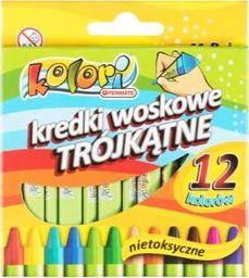 Penmate Kredki woskowe trójkątne 12 kolorów PENMATE