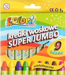 Penmate Kredki woskowe Super Jumbo 9 kolorów PENMATE