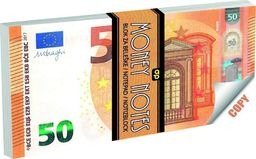 Panta Plast Notes 50 Euro 70 kartek (328579)