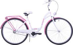 Kozbike Rower miejski 28 damski Kozbike biało-różowy standard uniwersalny