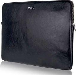 Torba Solier Skórzany pokrowiec na laptopa 15 cali Solier SA23A Czarny uniwersalny