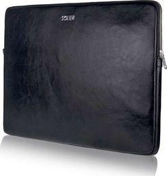 Torba Solier Skórzany pokrowiec na laptopa 13 cali Solier SA23 Czarny uniwersalny