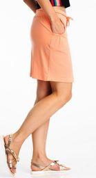 Fresh Made Spódnica mini wiązana w pasie pomarańczowa Fresh Made S
