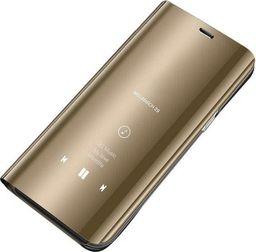 Hurtel Clear View Case futerał etui z klapką Huawei P30 Pro złoty uniwersalny
