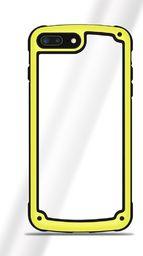 Hurtel Solid Frame etui wytrzymały pokrowiec z żelową ramką iPhone 8 Plus / 7 Plus żółty uniwersalny