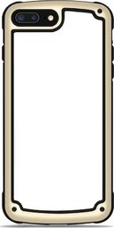 Hurtel Solid Frame etui wytrzymały pokrowiec z żelową ramką iPhone 8 Plus / 7 Plus złoty uniwersalny
