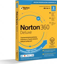 NORTON 360 DELUXE 1 USER 3 DEVICE + 25 GB + VPN (21394636)