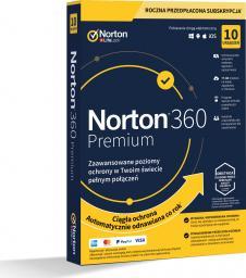 NORTON 360 PREMIUM 75GB PL 1 USER 10 DEVICE + 75 GB + VPN + KONTROLA RODZICIELSKA (21394718)