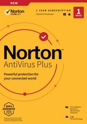 NORTON NORTON ANTIVIRUS PLUS 2GB PL 1 USER 1 DEVICE 12MO MORELE1 ENR DRMKEY FTP (KEYBANK)
