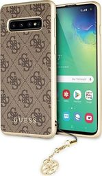 Guess Guess GUHCS10PGF4GBR S10 Plus G975 brązowy/brown hard case 4G Charms Collection uniwersalny