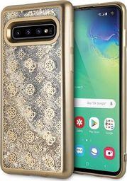 Guess Guess GUHCS10PEOLGGO S10 G973 złoty /gold hard case 4G Peony Liquid Glitter uniwersalny