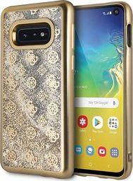 Guess Guess GUHCS10LPEOLGGO S10e G970 złoty /gold hard case 4G Peony Liquid Glitter uniwersalny