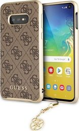 Guess Guess GUHCS10LGF4GBR S10e G970 brązowy /brown hard case 4G Charms Collection uniwersalny