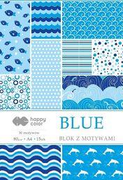 Blok biurowy GDD Blok z motywami Blue A4/15ark HAPPY COLOR