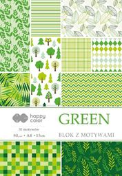 Blok biurowy GDD Blok z motywami Green A4/15ark HAPPY COLOR
