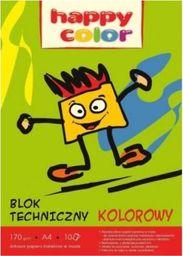 Blok biurowy GDD Blok techniczny A4 10 arkuszy kolor Happy friends