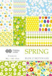 Blok biurowy GDD Blok z motywami Spring A4/15ark HAPPY COLOR