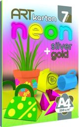 Blok biurowy Panta Plast Blok kartonów kolorowych Neon A4/7K 250g