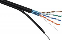 Solarix outdoor kabel instalacyjny FTP CAT5e przewód PE 305m/box konsolowe SXKD-5E-FTP-PE-SAM