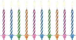 Świeczki urodzinowe magiczne, mix, 6 cm, 10 szt. uniwersalny