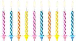 Świeczki urodzinowe, mix kolorów, 6 cm, 10 szt. uniwersalny